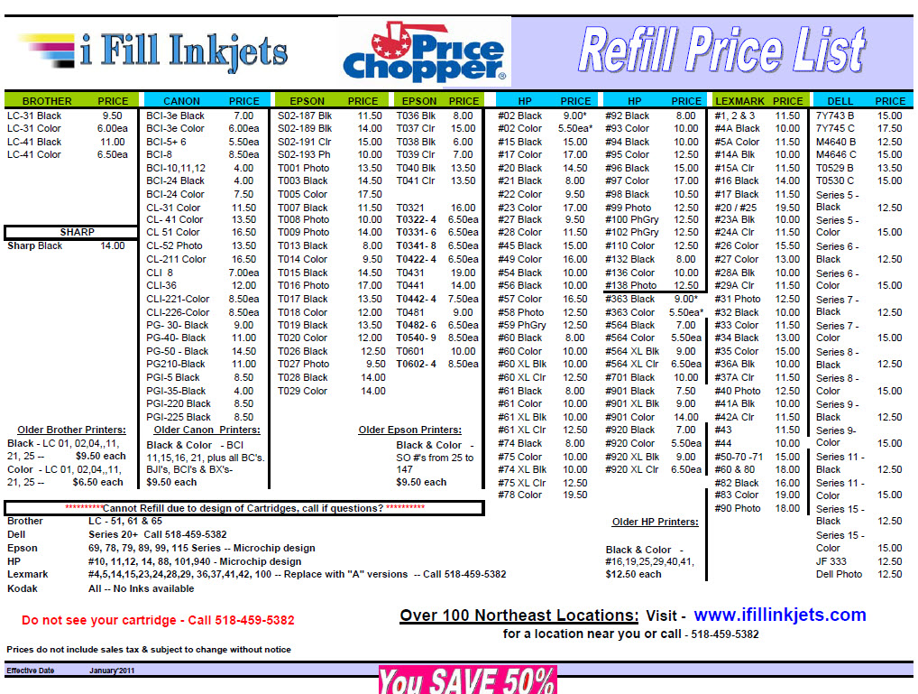 inkjet2011pricing